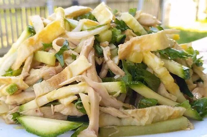 Диетический салат с кабачком без майонеза
