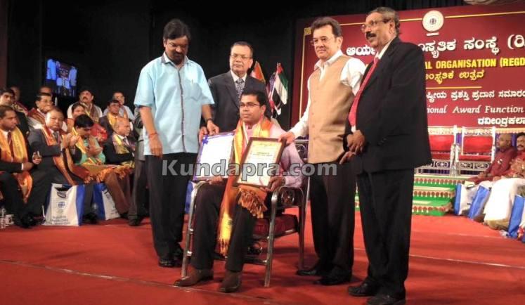 Aryabhata award Deepak shetty