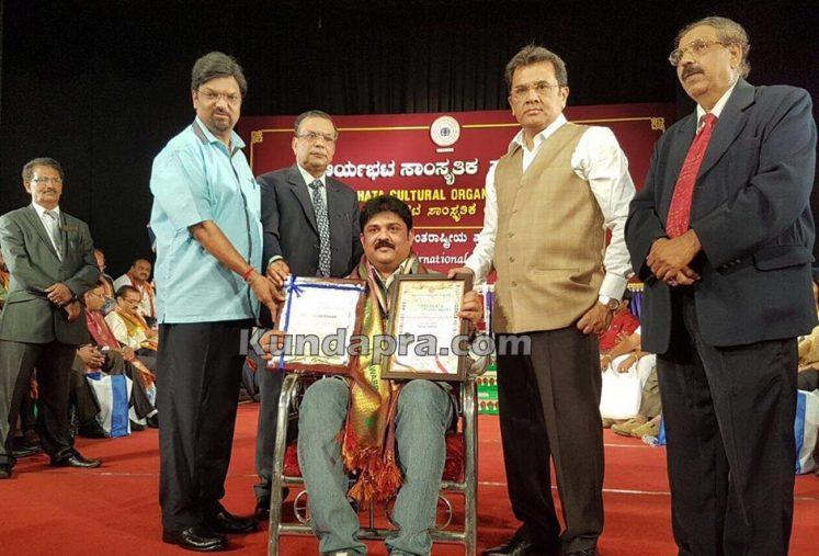Aryabhata award Dinesh vaidya