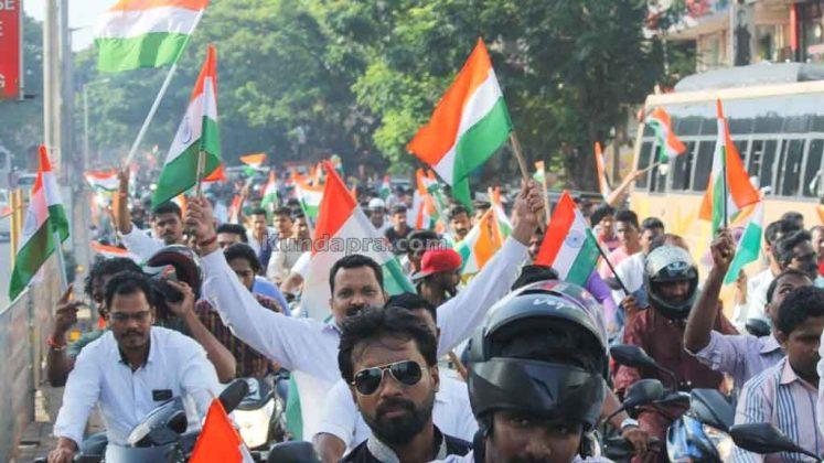 Tiranga Yatre - Bike Rally in Kundapura (14)