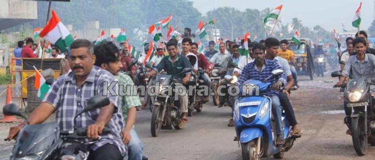 Tiranga Yatre - Bike Rally in Kundapura (5)