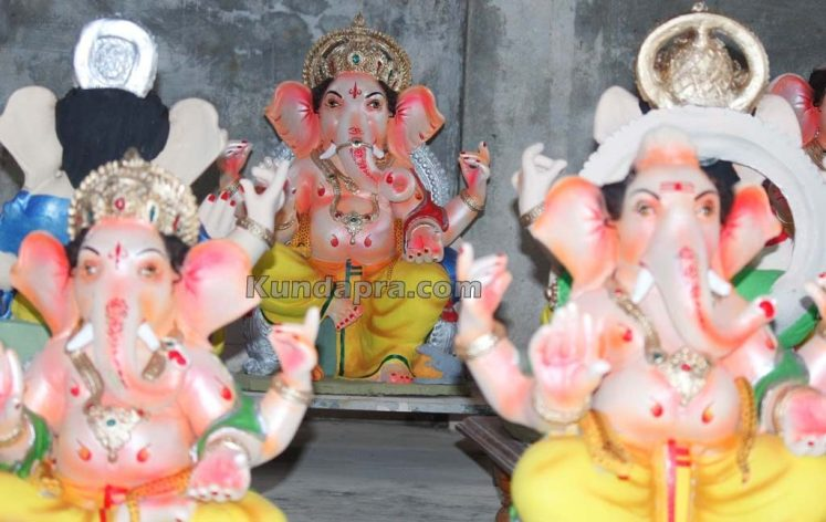 Kundapura ganesh idols makers Vasantha Gudigar made idols has demond in Hydarbad (15)