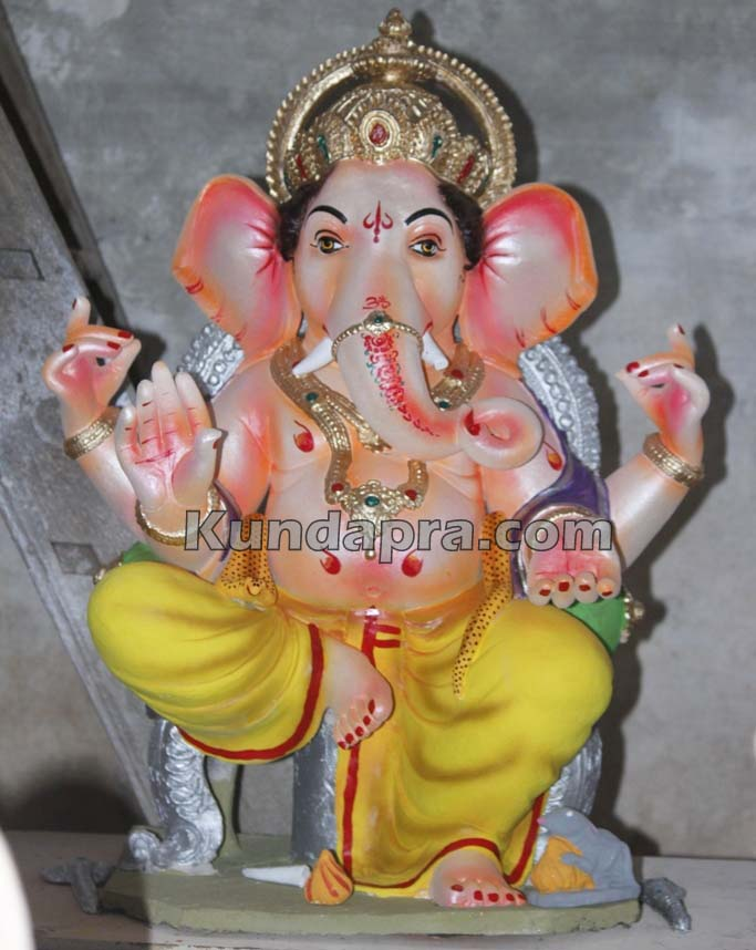 Kundapura ganesh idols makers Vasantha Gudigar made idols has demond in Hydarbad (4)