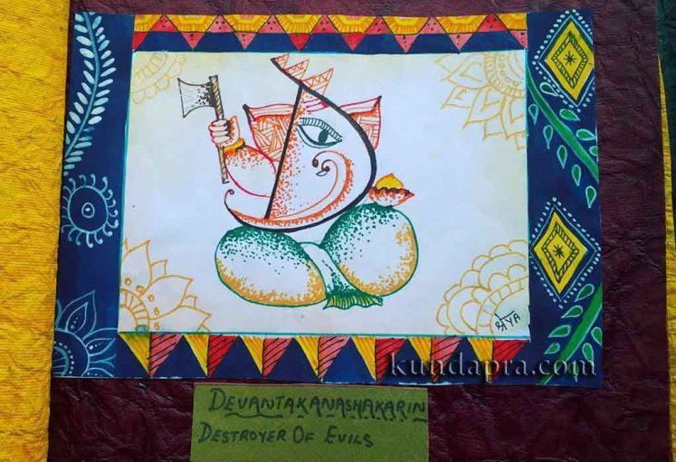 Shreyas Ganapathi Art - Devanatakanashakarina