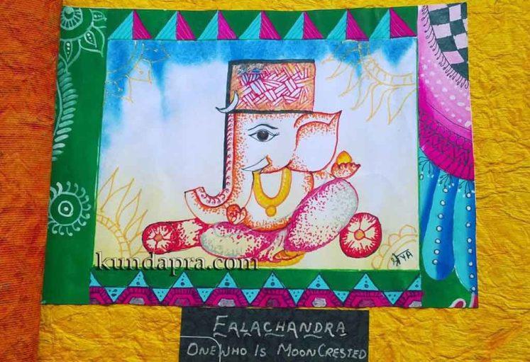 Shreyas Ganapathi Art - Falachandra