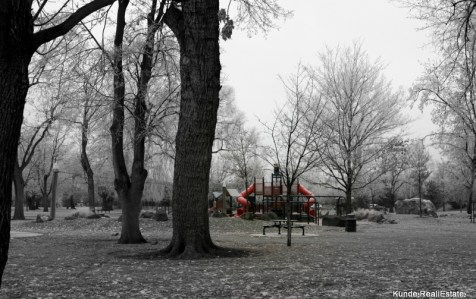 Howard Amon Park Playground in the Winter - Richland, WA