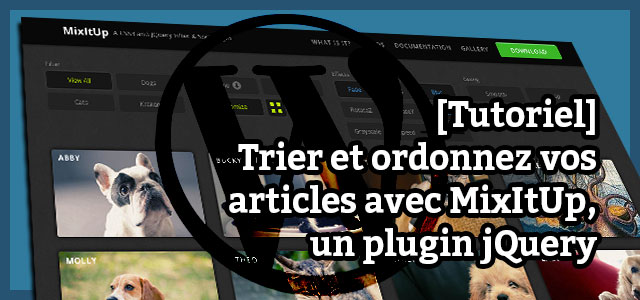 tutoriel mixitup wordpress