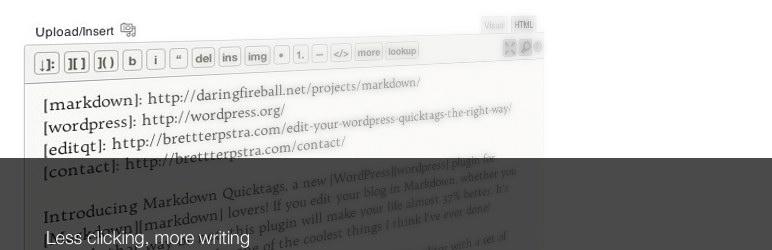plugin wordpress markdown quicktags