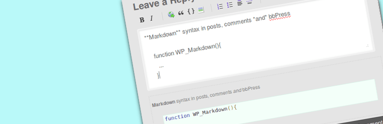 wordpress markdown plugin