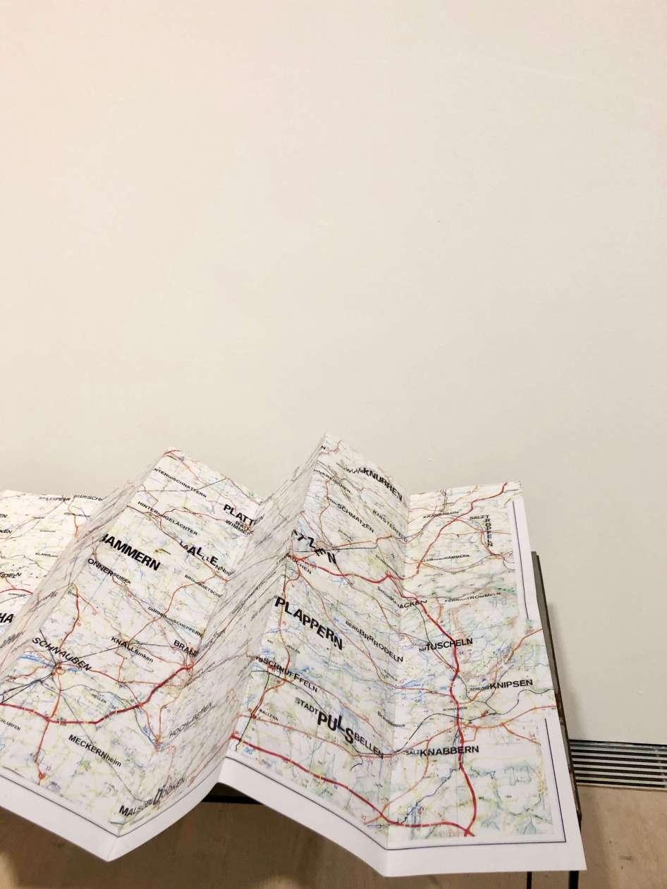 André Wischnewski Map I, 2017 Foto: Jessica Plautz © André Wischnewski, Kunstmuseum Stuttgart, Frischzelle