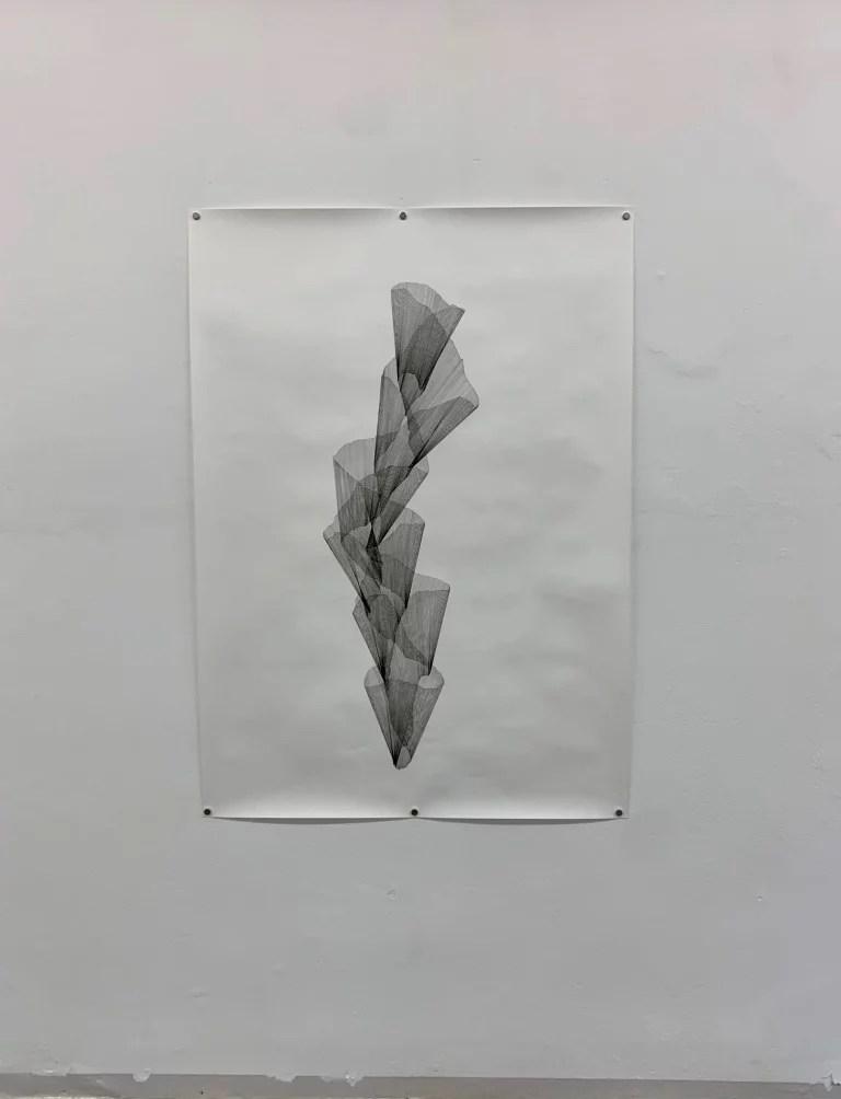 Constanze Vogt. o.T. (spira). 2018–2020, Fineliner auf Papier. © Constanze Vogt, Foto: Elisabeth Weiß.