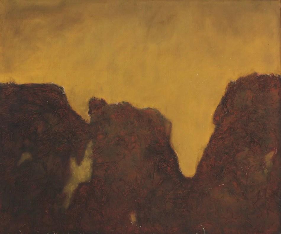Winand Victor. Bruch, 2000, Mischtechnik auf Holz, 100 x 120 cm. © Galerie Reinhold Maas.