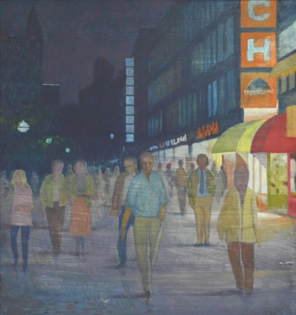 Winand Victor. Sommernacht, 1984, Öl auf Holz, 100 x 93 cm. © Galerie Reinhold Maas.