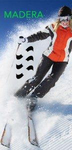 MADERA - Esquiadora
