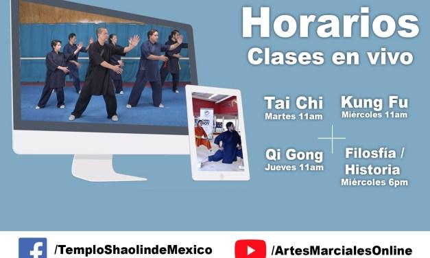 Clases en línea gratis y con membresía en el Templo Shaolin de México