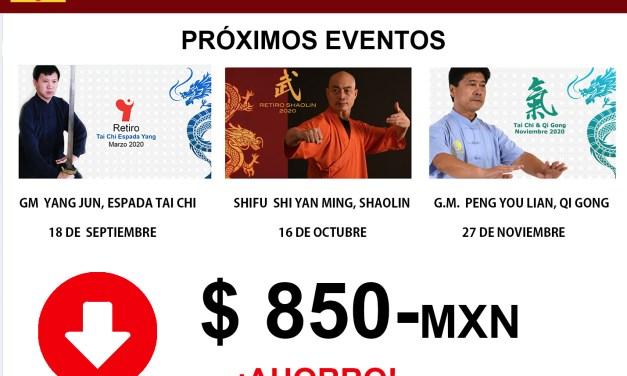 Ahorra hasta $850 pesos en seminarios 2020