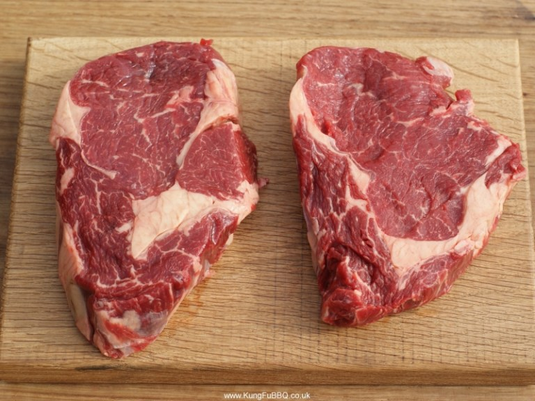 "British ""Old Cow"" Rib Eye Steaks"