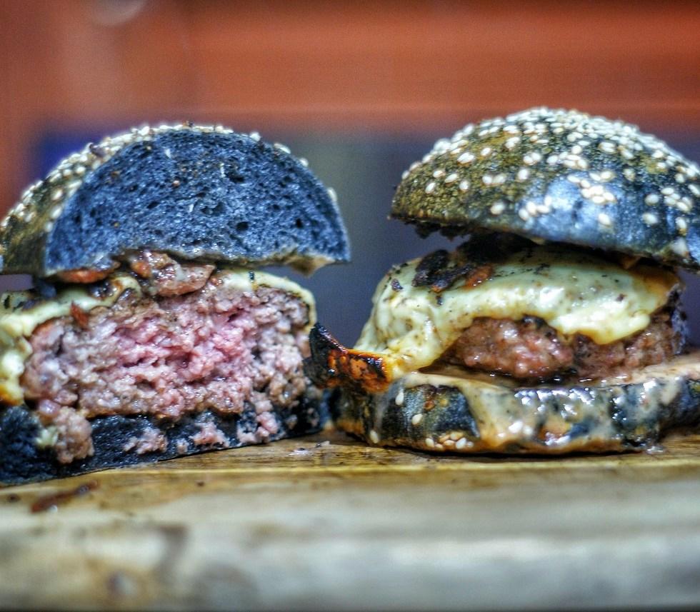 Charcoal Bun Burger