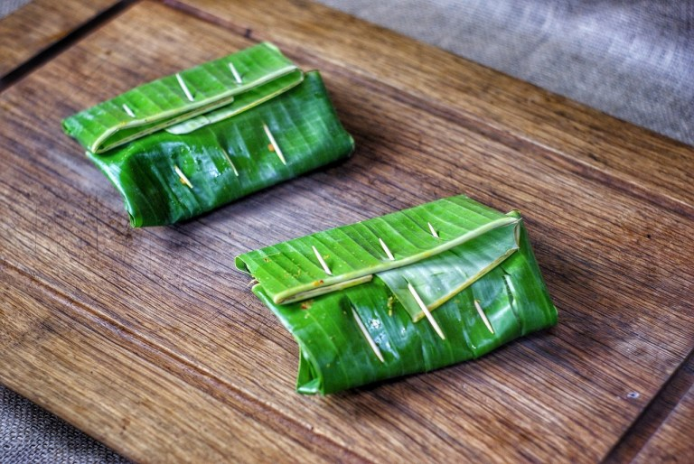 Thai Fish Grilled in Banana Leaves
