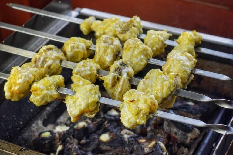 Skewered Monkfish Kebabs