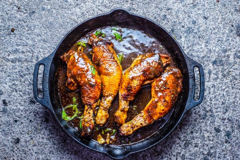 Skillet Roasted Mechoui Chicken