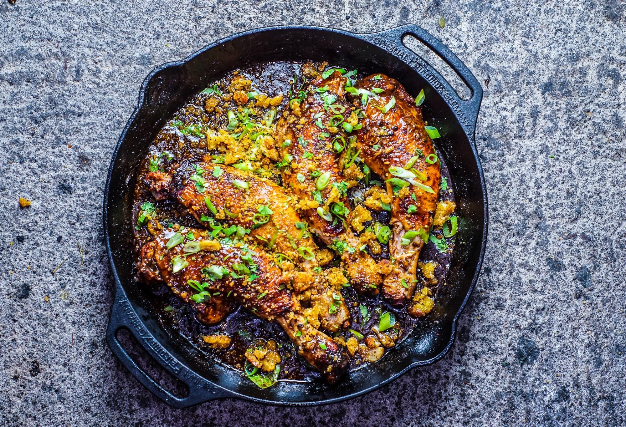 Skillet Roasted Mechoui Chicken