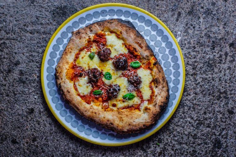 Meatball Pizza