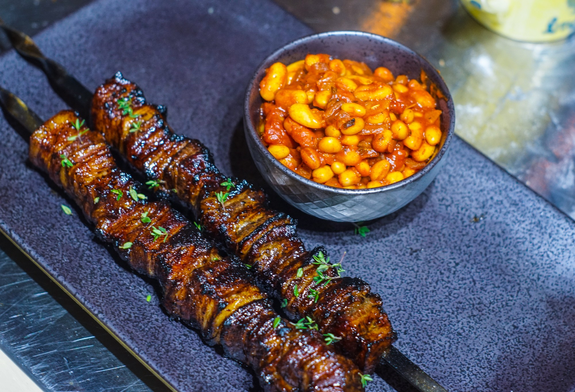 Sticky Maple Pork Belly Skewers