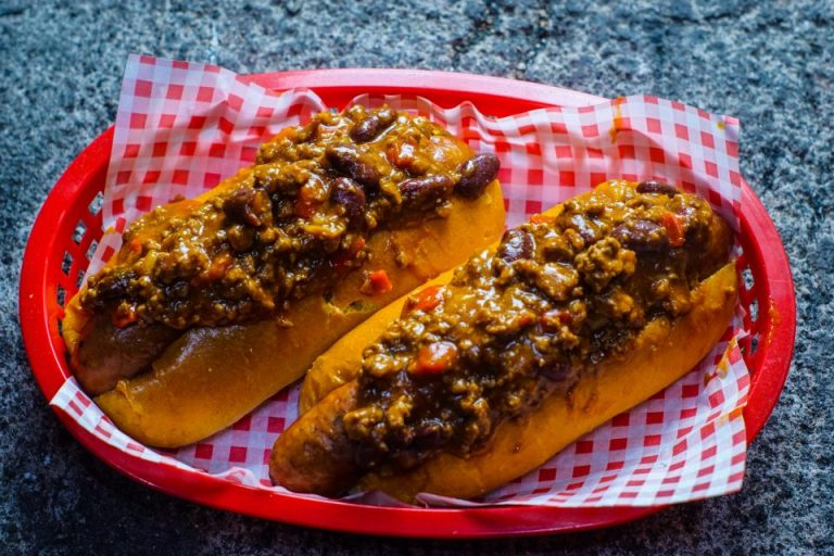 Beer steamed chilli dogs