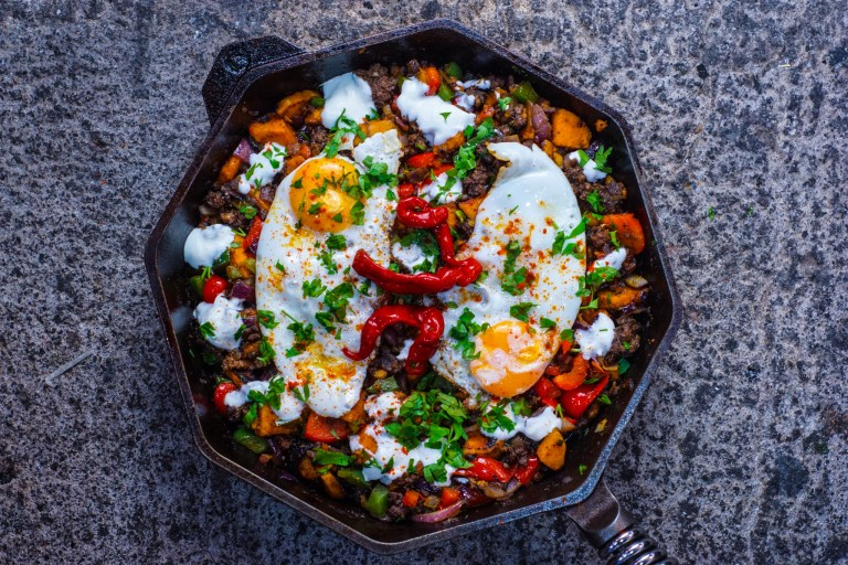 Sweet Potato Lamb Hash