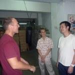 At the CSW kwoon with Mak Chi-kong, and Wing Chun master John Wong