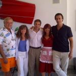 Cynthia with all-star cast. Left to right: Chris Mitchum, Kathy Long, Gary Daniels and Daniel Bernhardt