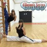 Lauren and Sian (flexing!)
