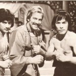 Carter with Fu Sheng and Richard Harrison co-stars of Marco Polo