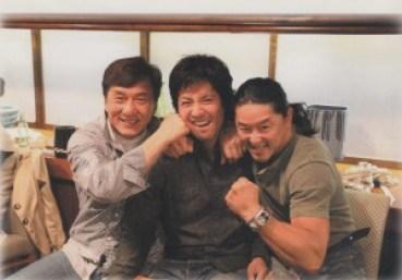 Jackie Chan, Kane Kosugi and Kenya Sawada in Tokyo, Japan