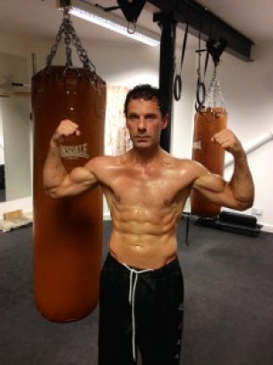 Cengiz post workout pose