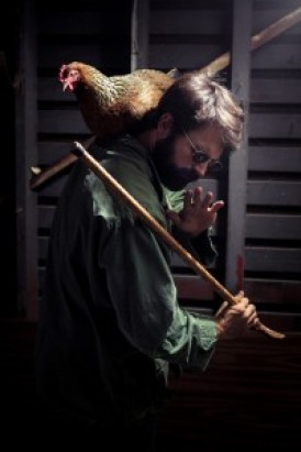 I have nothing to fear with my cane and seeing-eye rooster by my side!