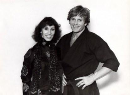 With fellow martial arts legend Joe Lewis (RIP)