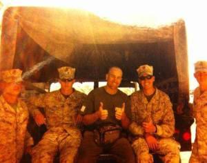 John brings his knowledge to US Marines