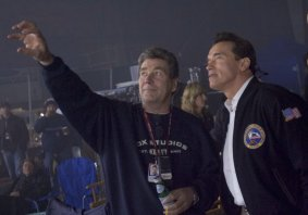 Vic has worked several times with his great friend Arnold Schwarzenegger