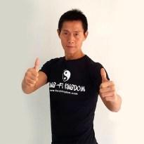 Chang Shan looking sharp in his cool shirt!