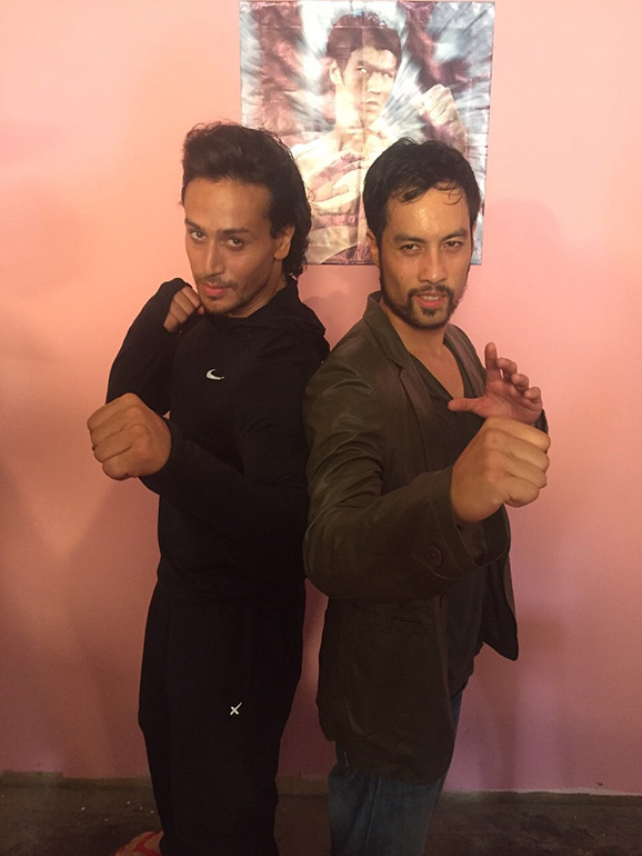 Kazu with Bollywood Megastar Tiger Shroff