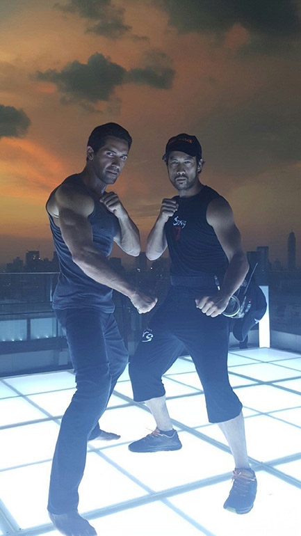 Kazu with Scott Adkins for Hard Target 2