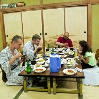 Kaiseki meal on Mt Mitake