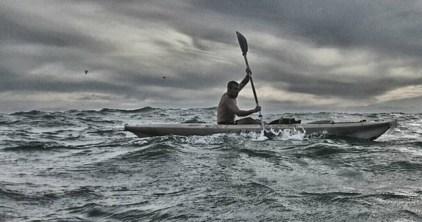 Kayaking on the high seas!
