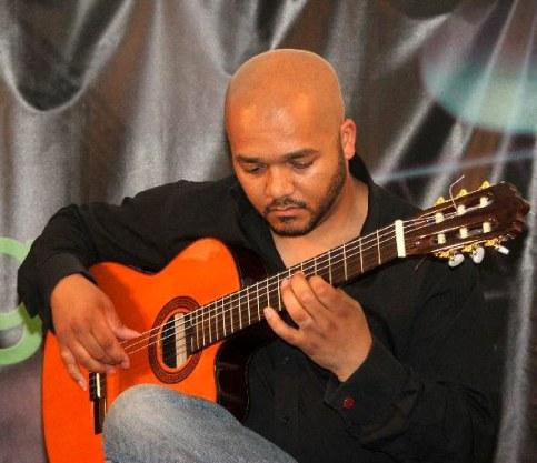 Playing flamenco guitar at Basingstoke Live