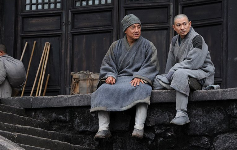 Andy and Jackie having a chat in Shaolin
