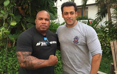 Larnell with India's finest -Salman Khan