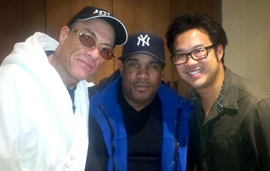 Larnell with Kevin Tancheron and Jean-Claude Van Damme