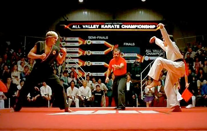 Karate Kid crane kick!